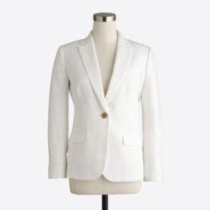 J Crew White 1 button blazer